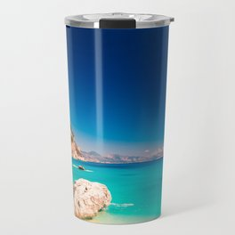 The beautiful Cala Goloritzè in Sardinia Travel Mug