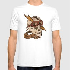 Old Timey Tattoo Design Mens Fitted Tee SMALL White