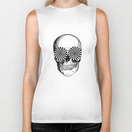 Black & White - Optical Skull Biker Tank