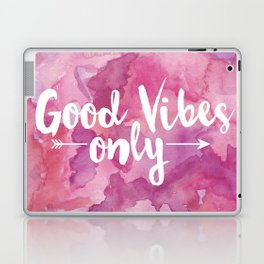 Good Vibes Only Pink Watercolor Laptop & iPad Skin