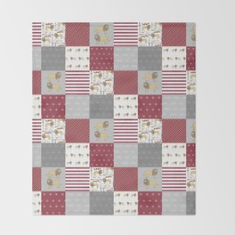 Lion House cheater quilt patchwork wizarding witches and wizards Throw Blanket