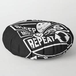 Eat Sleep Motocross Repeat - Motorcycle Motorsport Floor Pillow