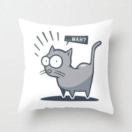 Scared cat! Throw Pillow