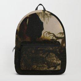Caspar David Friedrich - Man and Woman contemplating the moon (1824) Backpack