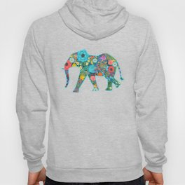 Floral Elephant - vivid Hoody