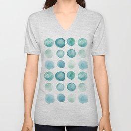 Blue Sea Glass Watercolor JUUL Unisex V-Neck