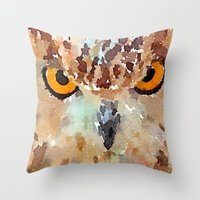 owl Throw Pillows featuring Owl by contemporary