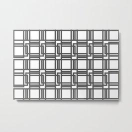 Interlocking Pattern Metal Print