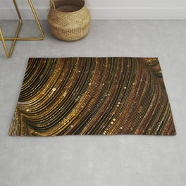 rox - abstract design rich brown rust copper tones Rug