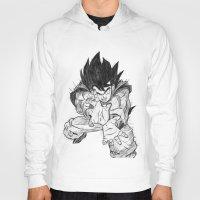 goku Hoodies featuring Goku by DeMoose_Art