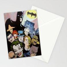 Bat man, Superhero , retro, Joker, painting, comic,  Stationery Cards