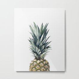 PINEAPPLE TOP II Metal Print