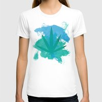 water colour T-shirts featuring Water Colour Leaf by sstonnedd