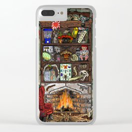 Creepy Cabinet of Curiosities Clear iPhone Case