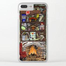 Creepy Cabinet of Curiosities Clear iPhone Case