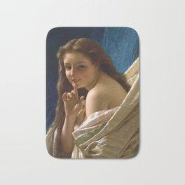 """Pierre Auguste Cot """"Portrait Of Young Woman"""" Bath Mat"""