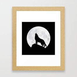 Howling Wolf - Moon Framed Art Print