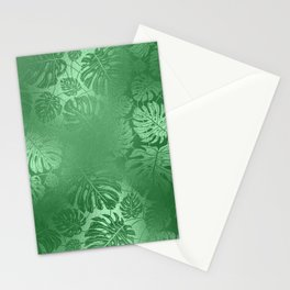 Green Leafs Pattern modern desig Stationery Cards