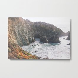 Seafoam Cliffs Metal Print