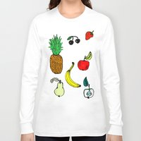 fruit Long Sleeve T-shirts featuring Fruit by krrstnn