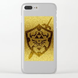 zelda shield gold Clear iPhone Case