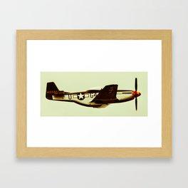 P-51 Mustang Vintage Framed Art Print