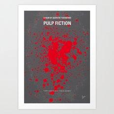 No067 My Pulp Fiction minimal movie poster Art Print