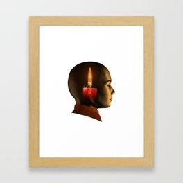 soul, human spirit, inner light Framed Art Print