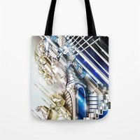 sci fi Tote Bags featuring Sci-Fi Series 1 by eos vector