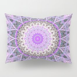 Lovely Lavender Mandala Design Pillow Sham