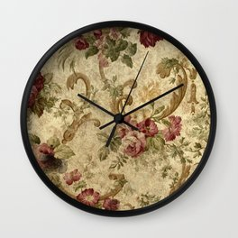 Old Fashioned Flower Design Wall Clock