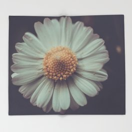 Flower Photography by Aperture Vintage Throw Blanket