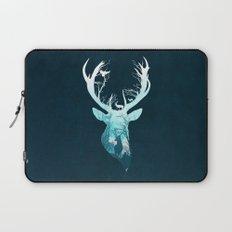 Deer Blue Winter Laptop Sleeve