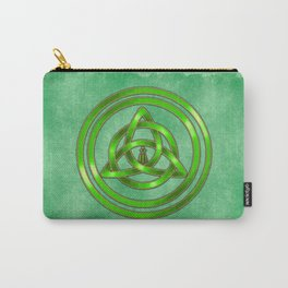 Awen Triqueta - Gold and Green Carry-All Pouch