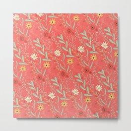 Flower Field Red Metal Print