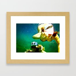 Beneath the Waters Edge Framed Art Print