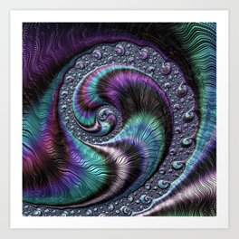 Fractal Art-Abalone Art Print