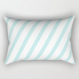 Diagonal stripes - turquoise fresh summer pattern Rectangular Pillow