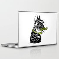 schnauzer Laptop & iPad Skins featuring Schnauzer Stache by Caitlin Crowley