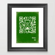 QR time Framed Art Print