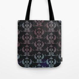 Damask Print Tote Bag