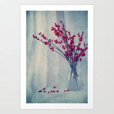 red pearls Art Print