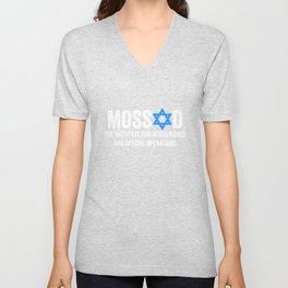 Mossad The Institute For Intelligence - Special Ops Unisex V-Neck