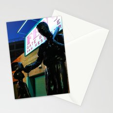 Ted  -- Ted Williams Statue outside Fenway Park in Boston at dusk, Red Sox Stationery Cards