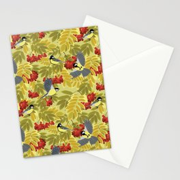 Tits on a mountain ash Stationery Cards