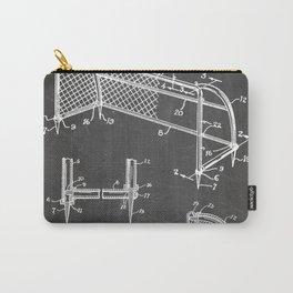 Soccer Patent - Soccer Goal Art - Black Chalkboard Carry-All Pouch
