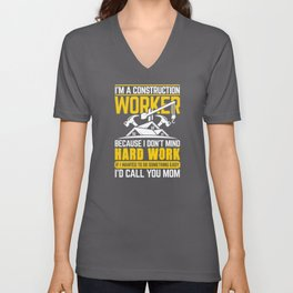 Construction Worker Unisex V-Neck