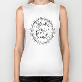 You are one of a kind Biker Tank