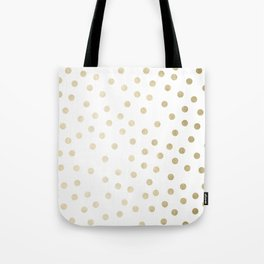 Stylish Gold Polka Dots Tote Bag