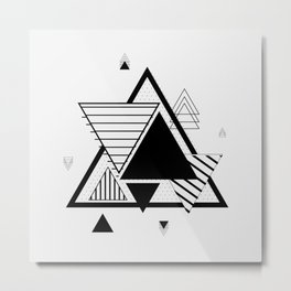 Triangle Geometric Elements Metal Print